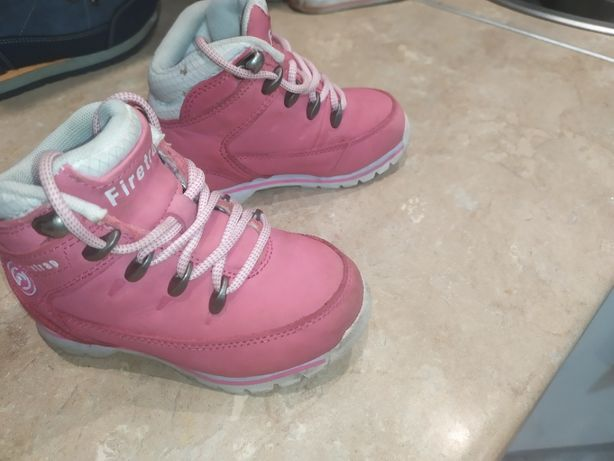 Buty Trekingowe Trapery Jesienno-Zimowe Firetrap różowe dziewczęce 24