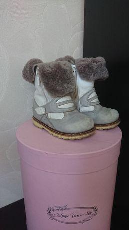 Кожаные ботинки на цыгейке