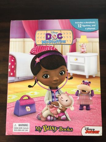 Książka edukacyjna, mata,figurki,maskotka,zabawki Doktor Dośka.Okazja!