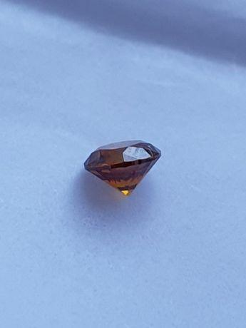 Diament Brylant 0,42 CT Bardzo rzadki UNIKAT Orange CERTYFIKAT IGI