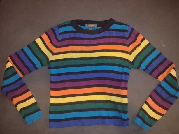 Cienki kolorowy sweterek