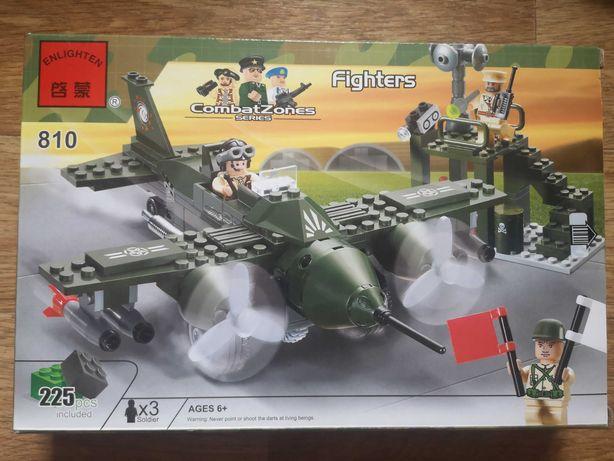 Конструктор Brick военный самолёт 225 деталей