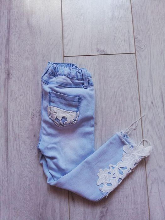 Spodnie jeansy Reserved 98 regulacja koronka jeans Bielsko-Biała - image 1