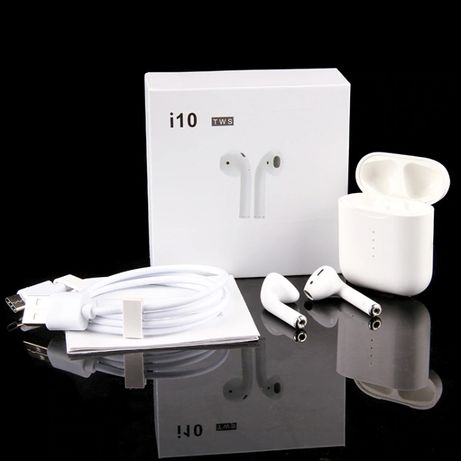 i10 TWS Airpods qualidade igual à Apple Bluetooth para IOS / Android