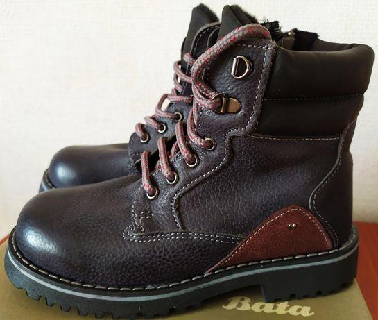 Ботинки Bata кожаные с утеплителем 30 р. Оригинал