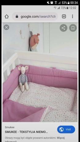 Ochraniacz na łóżeczko dziewczynka różowy