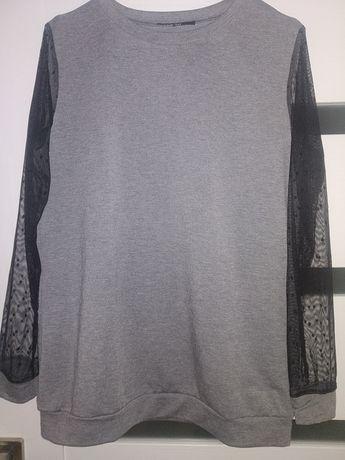 Bluza bluzka przezroczyste rękawy