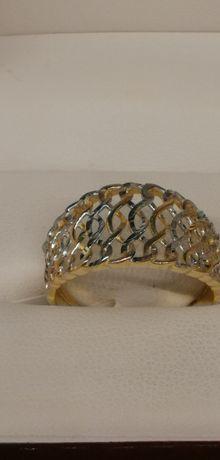 złoty pierścionek ażurowe cudo próba 585