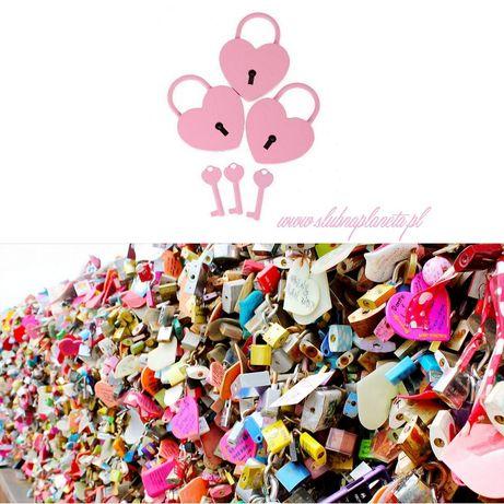 Kłódka PINK heart