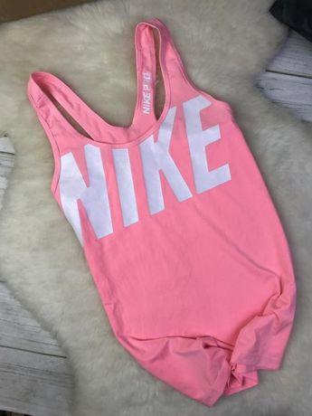 Спортивная майка Nike Dri Fit с большим лого НАйк топ маєчка рожева