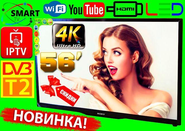 "Телевизор SmartTV SONY 56"" 4K UHDTV, LED, IPTV, Android 9, T2, WI FI"