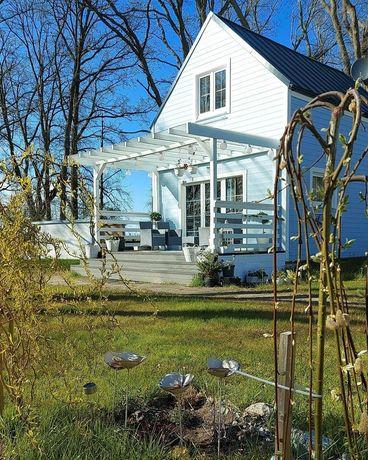 NOWE WARPNO. Całoroczny domek nad samym jeziorem.