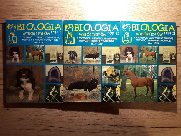 Podręczniki biologia i chemia. Testy wstępne na uczelnie medyczne.