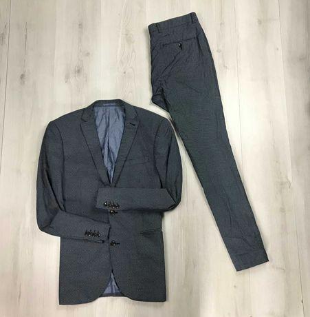 Костюм клетку в рисунок точку приталенный пиджак/зауженные брюки Next