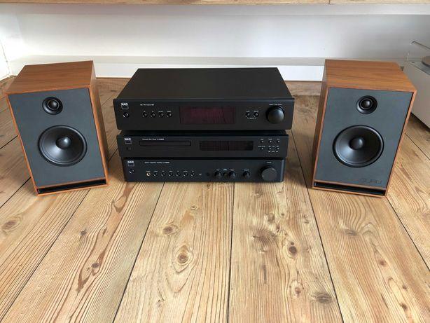 Sistema de som com Amplificador+CD+Rádio+Colunas