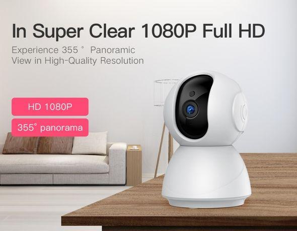 Camera 1080P Segurança 360º Vigilância WiFI APP Visão Noturna 128GB