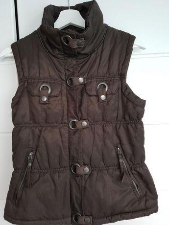 Reserved puchowa kamizelka 36 38 S M Stan idealny kurtka brąz
