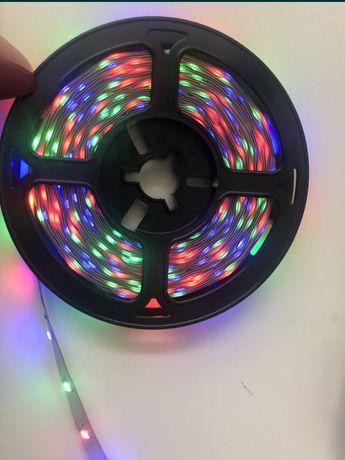 Taśma LED SMD 5M RGB Kolorowa+ Aplikacja NA BT 2 Sztuk