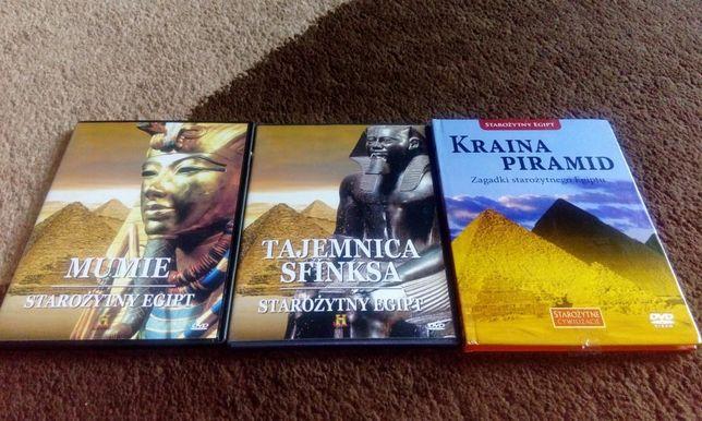 Trzy płyty dvd Starożytny Egipt