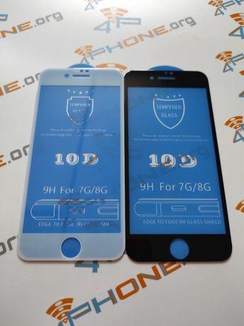 Защитное стекло iPhone 8 Plus 10 D