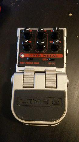 Line 6 Uber metal. Efekt gitarowy metal distortion, bramka szumów.