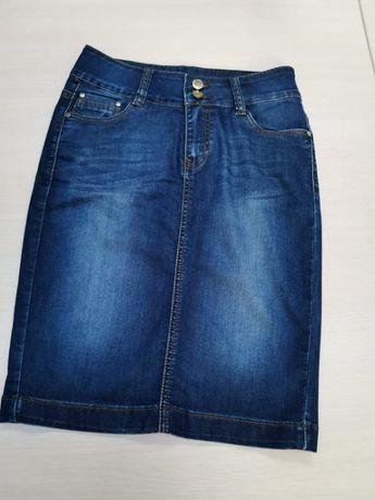 Юбка джинсовая карандаш прямая