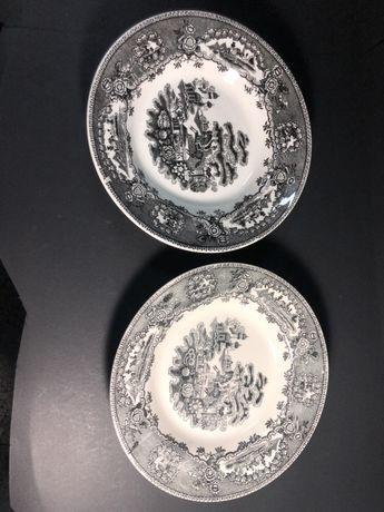 Dois pratos de sopa Sacavem Estatua