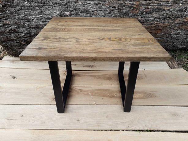 Стол журнальный лофт, квадратный журнальный столик, кофейный столик