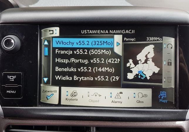 Citroen Peugeot RT6 SMEG Mapa Europy 2021-1 Nawigacja Najnowsza Radary