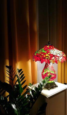Piękna duża lampa witrażowa Tiffany