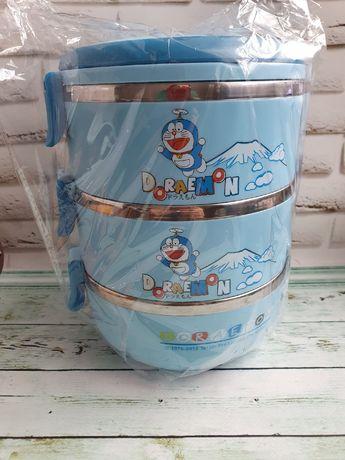 Трёхъярусный детский термос для еды.