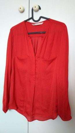 Koszula jedwabna ZARA M czerwień