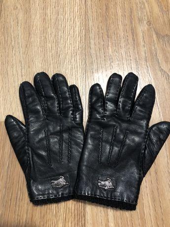 Перчатки Burberry кожаные