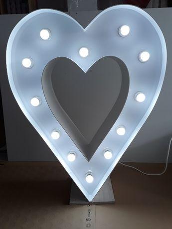 podświetlane serce 115 cm wysokości serce świecące