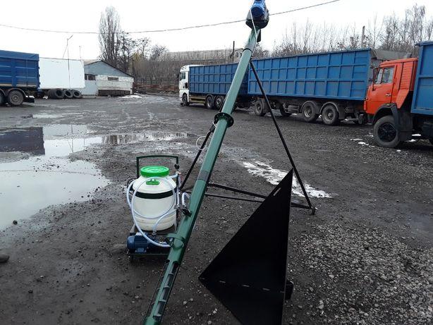Шнековый погрузчик для зерна (конвейер транспортер)159 мм х 8 м.