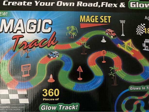 Светящаяся дорога,гоночная  трасса Magick track