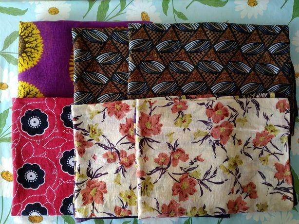 Изящный натуральный хлопковый платок шаль палантин в цветочный этно