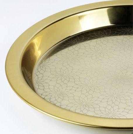 Taca złota ikea ljuvare średnica 45cm nowa