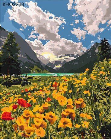 Картина по номерам идейка Величественные Альпы 40*50