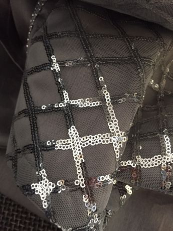 Zasłony nowoczesne cekinowe błyszczące glamour srebrne śliczne