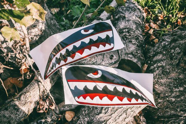 2 Autocolantes para Deposito de Moto Dentes/Boca de Tubarão|NOVOS