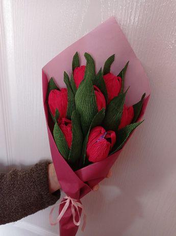 Букет тюльпанів з цукерками