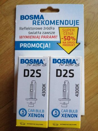 Żarówka Xenon żarnik D2S 4300K Bosma dwupak. Nowe