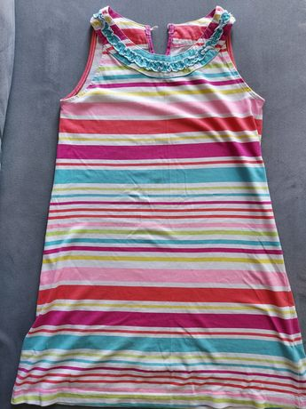 Sukienki letnie 3szt r.140