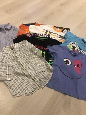 Продам пакет вещей (футболки и рубашки) на мальчика