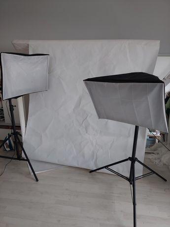 Softbox zestaw dwóch softboxów do fotografii 4 żarówki