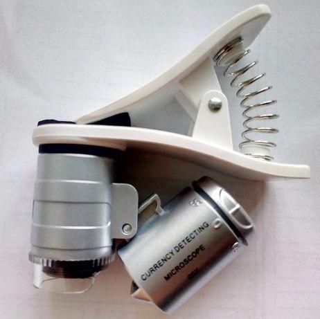Мікроскоп портативный микроскоп с клипсой лупа увеличительное стекло
