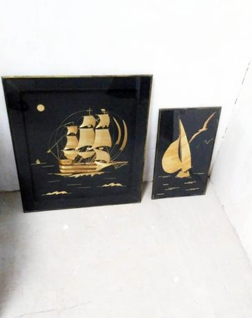 Картина из соломки, Парусник