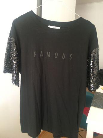 T-shirt preta Mango