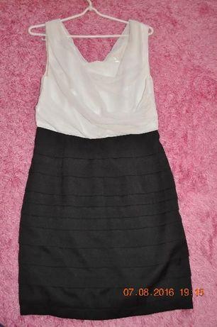 Sukienka biało-czarna ORSAY